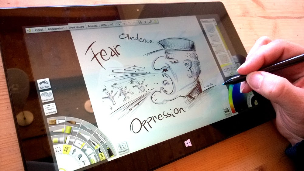 Zeichnen auf dem Microsoft Surface Pro 2