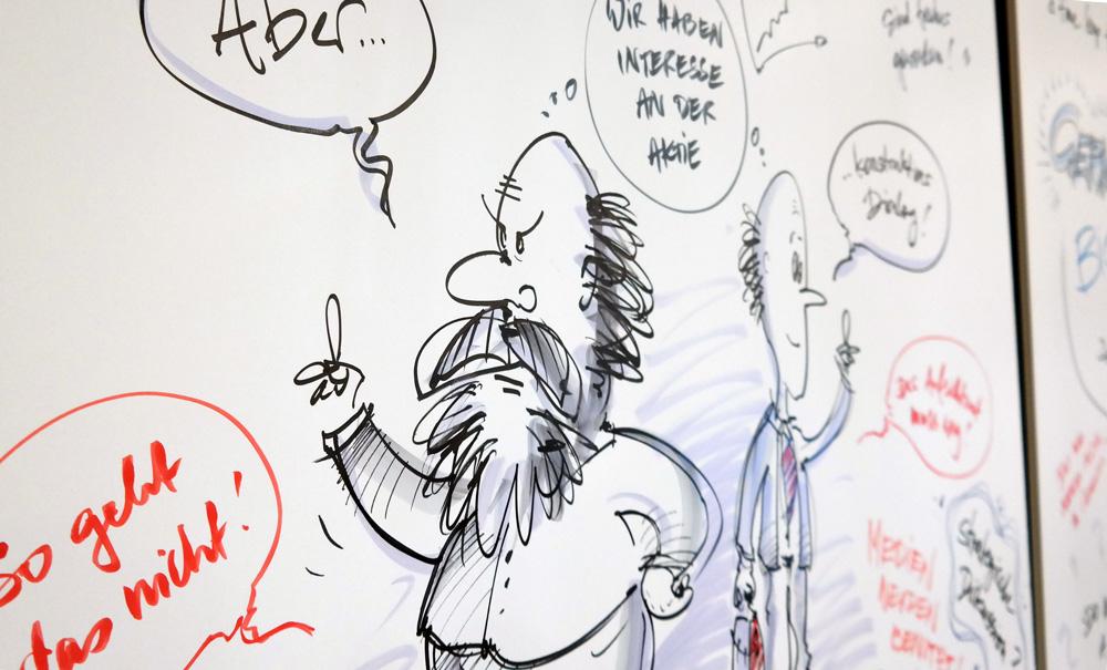 Graphic Recording auf einer Finanzveranstaltung in Frankfurt
