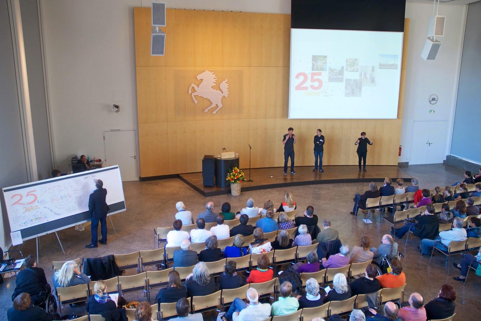 Graphic Recording auf einer Jubiläumsfeier für die KISS in Stuttgart