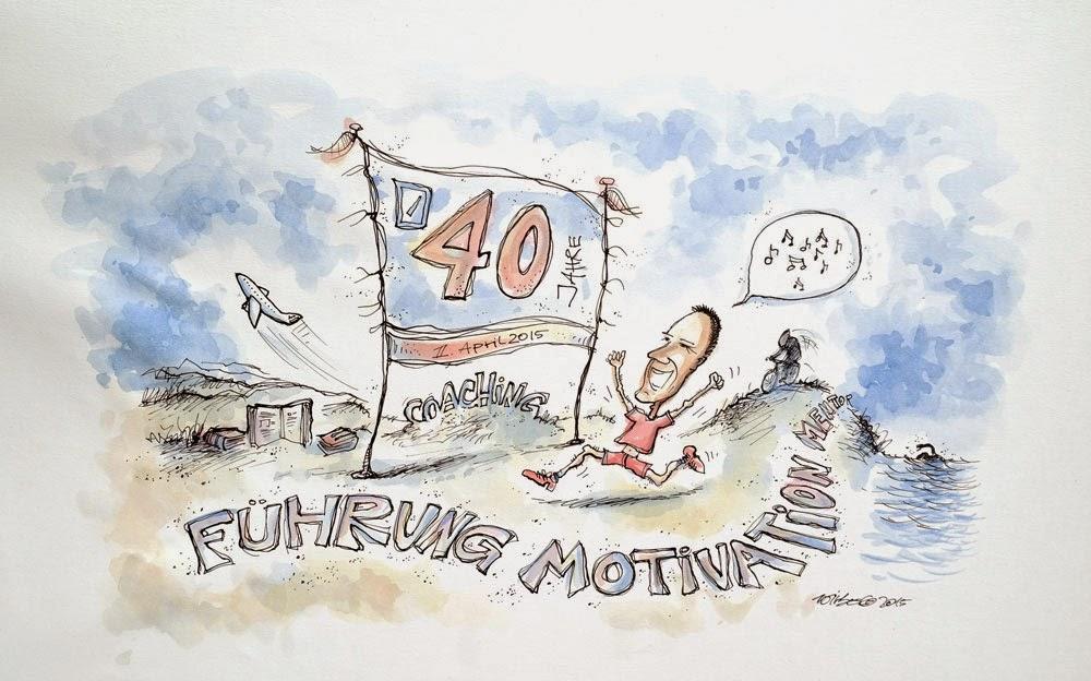 Cartoonzeichnung zum Ausscheiden einer Führungskraft 1
