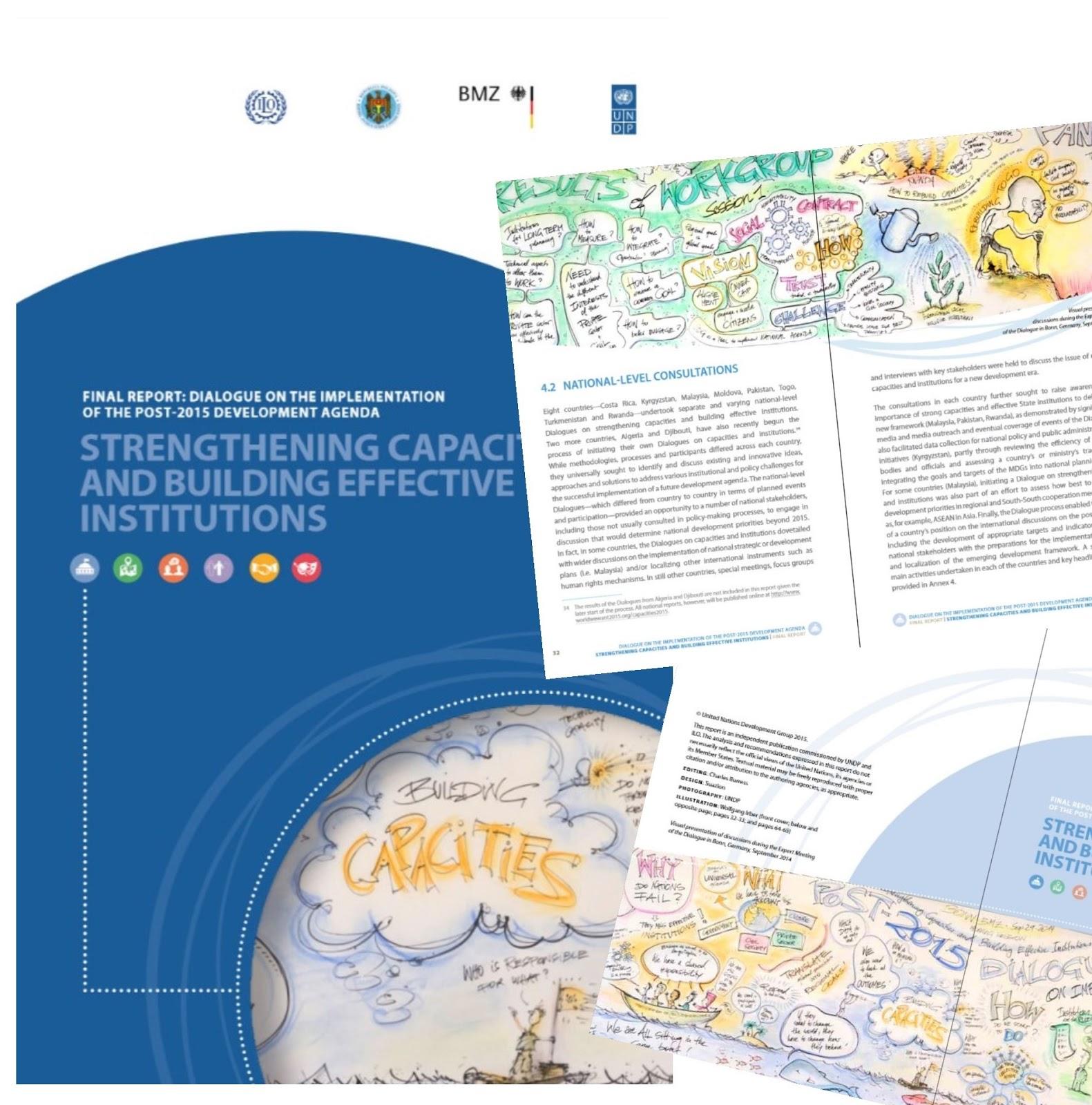 Post von den United Nations: die Graphic Recordings in Bonn im Abschlussbericht