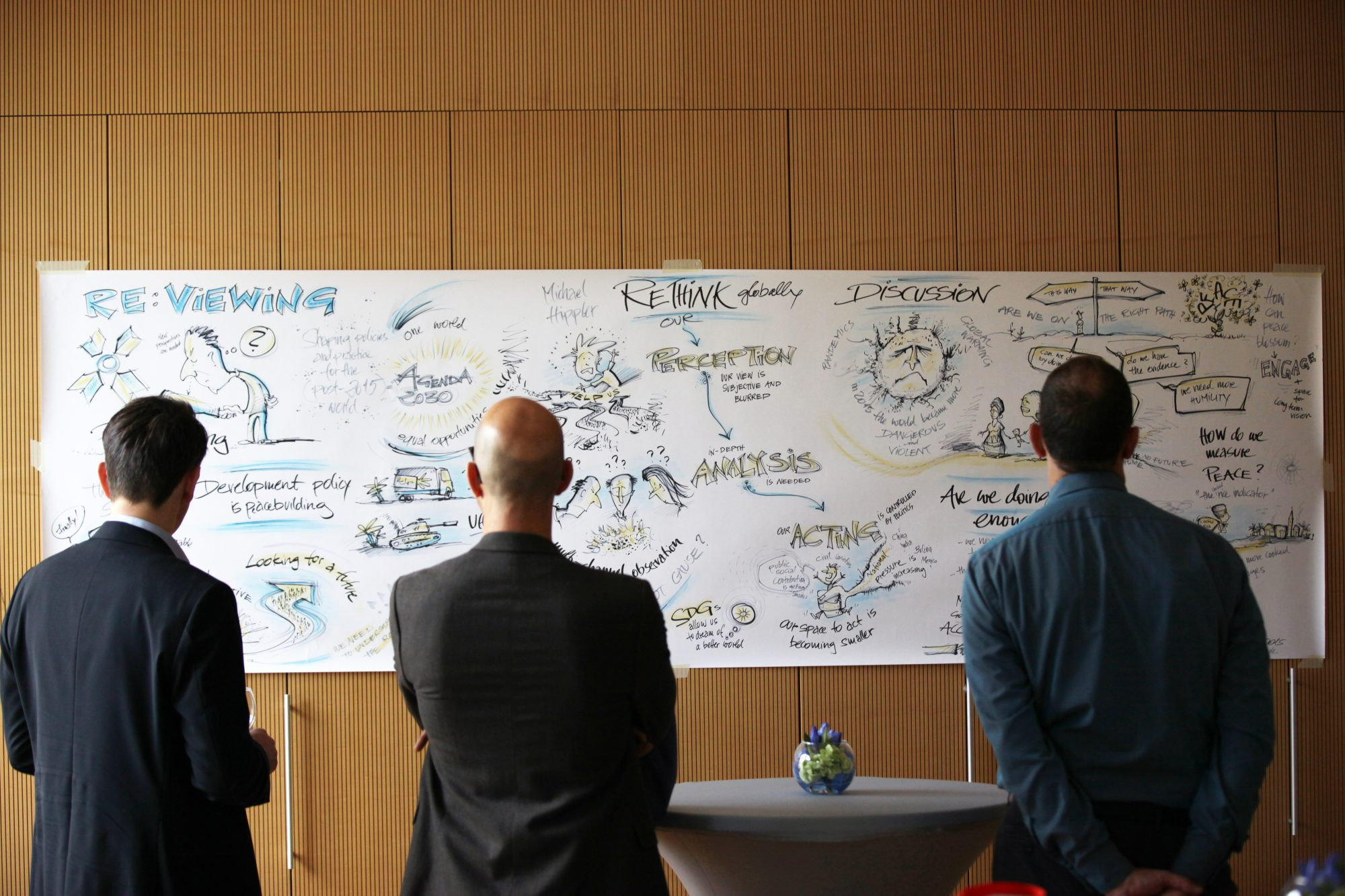 Graphic Recording auf einer Peacebuilding Conference (Tag 1) in Berlin