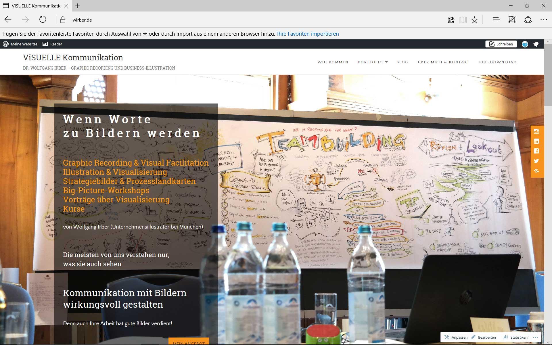neue Website Wolfgang Irber