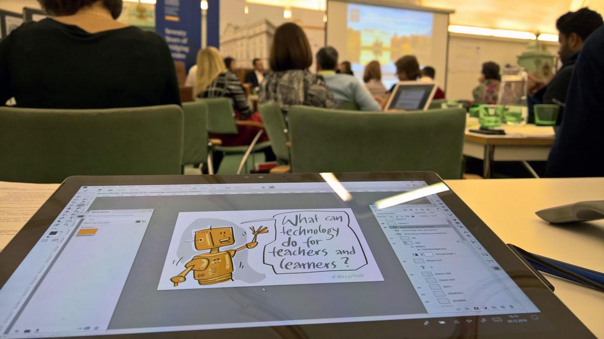 Meine digitale Bilderflut beim Graphic Recording in Salzburg und ein kurzer Moment der Berühmtheit auf Twitter